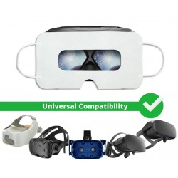 [Batch of 100] Disposable VR Hygiene Face Mask/Eye mask, Universal - SuperMask