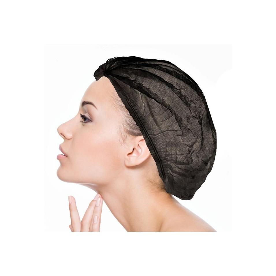 Charlotte Disposable Black : Kopfhaarschutz (Medizin, Ästhetik, Industrie, Agribusiness, Schönheit, Fahrräder, Virtual Reality)