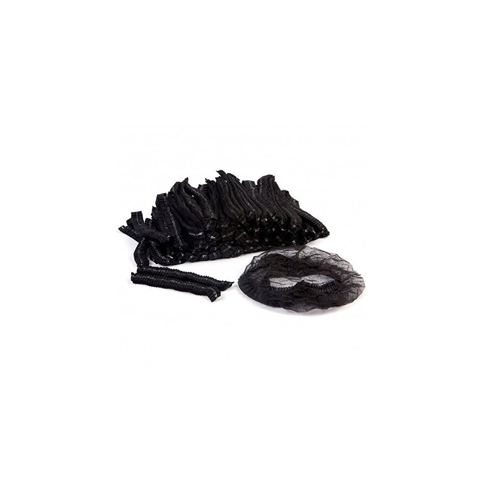 [Batch of 100] Hygiene Disposable Black Cap : Head-Hair Protection (Medical, Aesthetic, Industry, Agribusiness, Virtual Reality)
