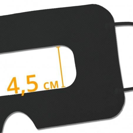 Disposable VR Hygiene Face Mask/Eye mask, Black, Universal - SuperMask