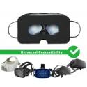 [Lot de 100] Masque jetable hygiénique de protection casque VR, Noir, Universel - SuperMask