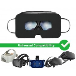 [Lot de 100] Masque jetable hygiénique de protection casque VR, Noir, Universel - SuperMask
