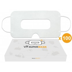 [Lot de 100] Masque jetable hygiénique de protection pour casque VR, Universel - SuperMask