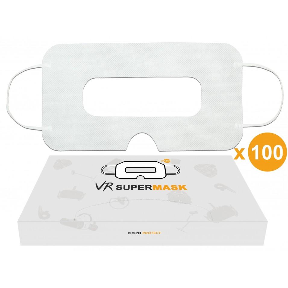 [Lot de 100] Masque jetable hygiénique de protection pour casque VR, Universel - SuperMask