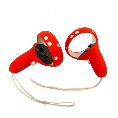 Cover silicone de protection manette Oculus Touch (Quest 2) rouge