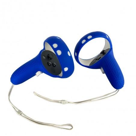 Cover silicone de protection manette Oculus Touch (Quest 2) bleu