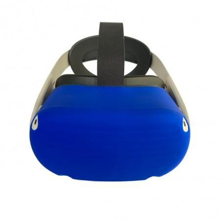 Housse en silicone pour casque (bleu)