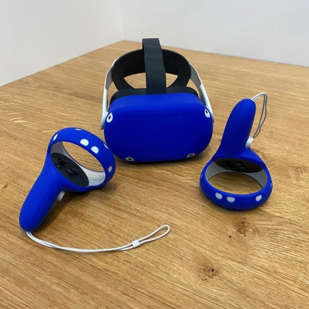 2-in-1 protection for Quest 2 (blue)