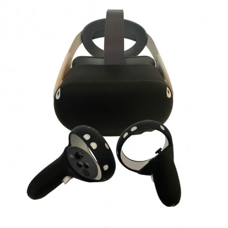 Silicone protection handle and headset for Oculus Quest 2 (black)