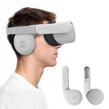 Cache-oreilles en Silicone pour Oculus Quest 2 (sonorité améliorée)