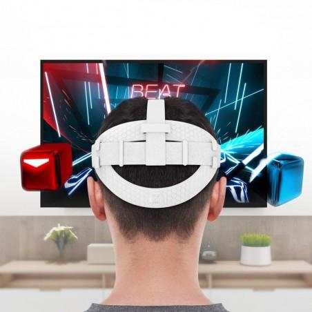 Améliorer la confort de la sangle d'origine du Casque VR Quest 2 (blanc)