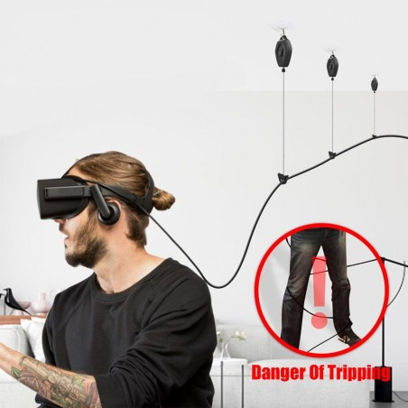 Vermeiden Sie es, sich in den VR-Kabeln zu verheddern