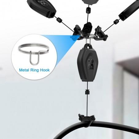 Comment gérer mes câbles casques VR au plafond ?