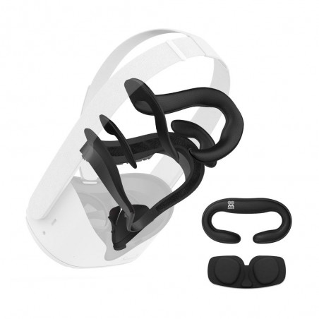 (7 en 1) Interface Faciale Oculus Quest 2 & Mousses de remplacement (Aération)
