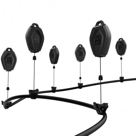Aufhängung und Kabelmanagement für an der Decke montierte VR-Headsets (Pulley)